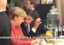 Il video di Giuseppe Conte che dice a Merkel che il M5S è preoccupato per i sondaggi