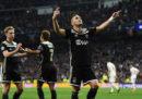 L'Ajax ha eliminato il Real Madrid negli ottavi di finale di Champions League