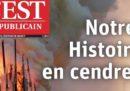 Le prime pagine francesi sull'incendio a Notre-Dame