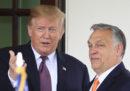 Il presidente degli Stati Uniti Donald Trump ha incontrato il primo ministro ungherese Viktor Orbán