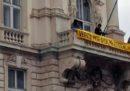 Lo striscione per Giulio Regeni esposto dal palazzo della regione Friuli Venezia Giulia è stato rimosso