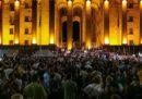 A Tbilisi c'è stata una grossa manifestazione contro il discorso di un deputato russo al Parlamento