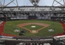 Lo Stadio Olimpico di Londra trasformato in uno stadio per il baseball