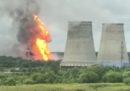 C'è un grande incendio in una centrale elettrica vicino a Mosca
