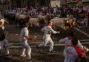Cinque persone sono state ferite oggi durante la corsa dei tori a Pamplona