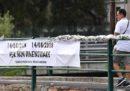 La cerimonia per l'anniversario del crollo del ponte Morandi