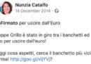 Il post in cui la nuova ministra del Lavoro diceva di voler uscire dall'euro