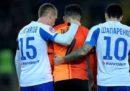 In Ucraina un calciatore è stato espulso per aver reagito a cori razzisti