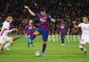 Lo stupendo gol di tacco di Luis Suarez in Barcellona-Maiorca