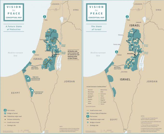 Cartina Stato Di Israele.La Proposta Di Trump Per Risolvere Il Conflitto Israelo Palestinese Il Post