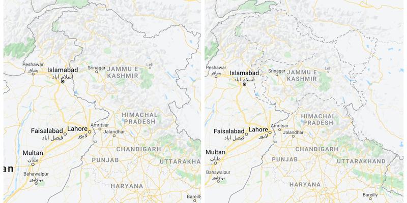 Cartina Italia Google Maps.Come Google Maps Mostra I Confini Dei Territori Contestati Il Post