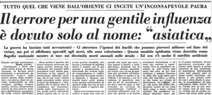 Le altre pandemie italiane, viste dai giornali - Il Post