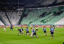 La Juventus ha battuto 2-0 l'Inter nel posticipo a porte chiuse di Serie A