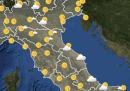 Le previsioni meteo per martedì 26 maggio