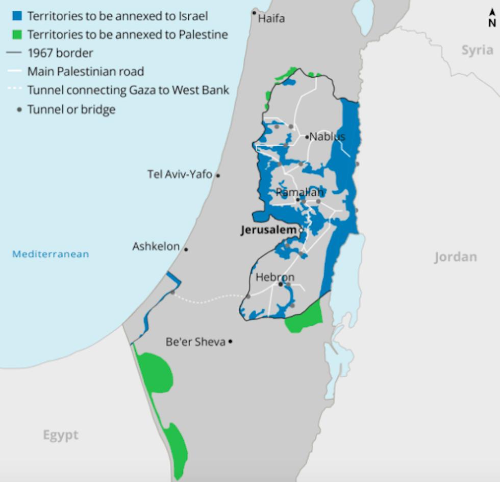 Israele Palestina Cartina.Il Piano Di Israele Per Annettere Le Colonie Il Post