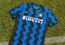 La nuova maglia dell'Inter per il 2020/2021