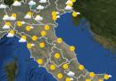Le previsioni del meteo per martedì 14 luglio