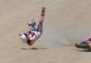 La brutta caduta di Marc Marquez in MotoGP