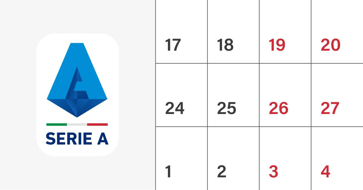 Calendario Serie A 2021 Oggi Il calendario della Serie A 2020/2021   Il Post