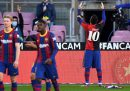 Messi ha ricordato Maradona indossando una sua vecchia maglia durante Barcellona-Osasuna