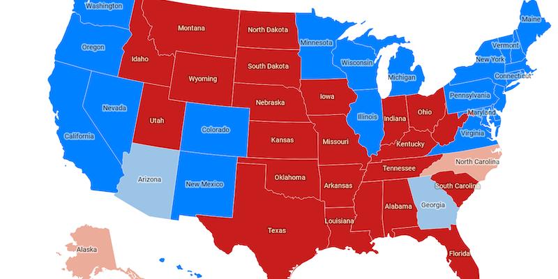 Immagini Cartina Stati Uniti.La Mappa Della Vittoria Di Joe Biden Negli Stati Uniti Il Post