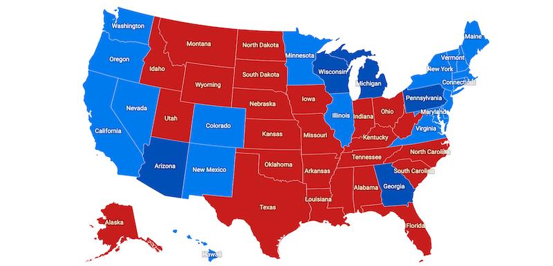 Stati Uniti Cartina Politica.La Mappa Finale Della Vittoria Di Joe Biden Negli Stati Uniti Il Post