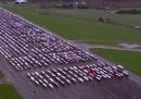L'enorme fila di camion bloccati nel Regno Unito