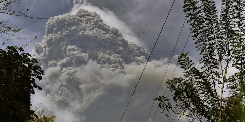 Un vulcano ha oscurato il cielo di Barbados