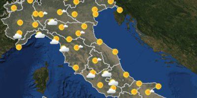 Le previsioni meteo per lunedì 14 giugno