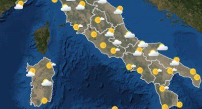 Le previsioni meteo per giovedì 3 giugno
