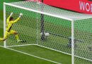 Il gol da centrocampo di Patrik Schick in Scozia-Repubblica Ceca