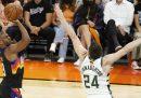 I Phoenix Suns hanno vinto gara-1 delle finali NBA contro i Milwaukee Bucks